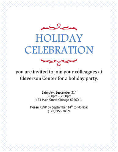 26 free printable party invitation templates in word holiday celebration simple corporate invitation stopboris Image collections