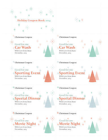Holiday Coupon Book