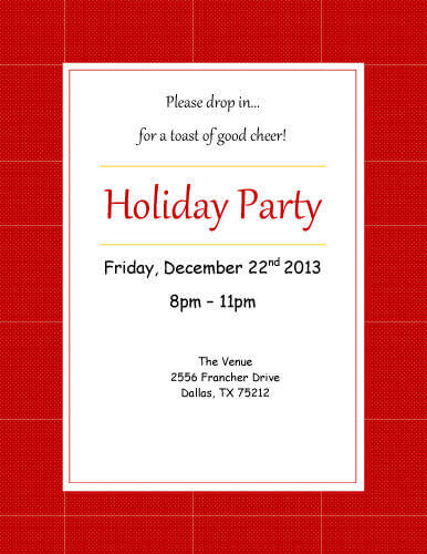 13 Free Printable Party Invitation Templates in Word • Hloom.com