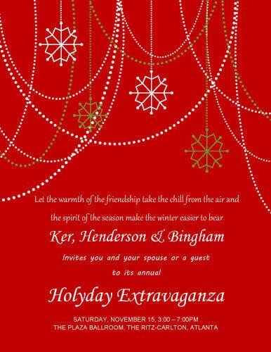 Holyday Extravaganza Invitation