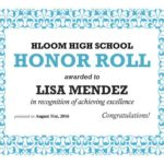 Honor Roll Certificate Template