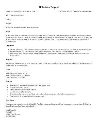 IT Business Proposal