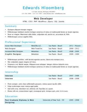 In a Nutshell Resume Template
