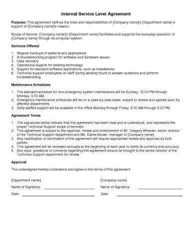 31 sample agreement templates in microsoft word for Technical support agreement template