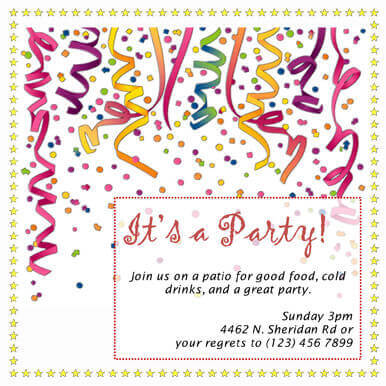 26 free printable party invitation templates in word, Party invitations