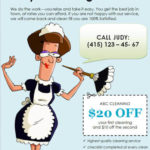 Judys Cleaning Services cleaning flyer template
