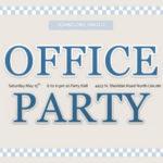 Invitation de bureau avec gros titre