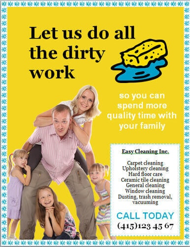 Let us do all the dirty work cleaning flyer template