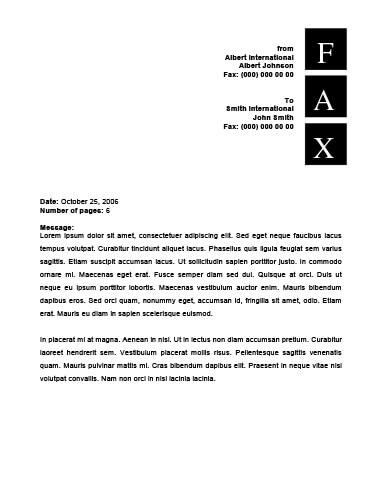 Letterhead Fax