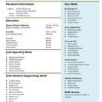 Modello di curriculum Gdoc con lista delle specializzazioni