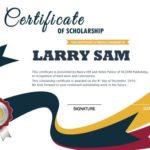 Modello di certificato di borsa di studio moderno