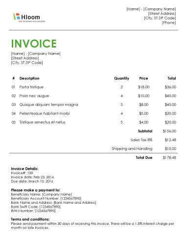 Money Maker Invoice Template Word  Create An Invoice In Microsoft Word
