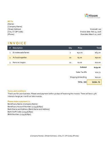 Moonlight Invoice Excel
