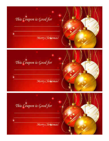 Multipurpose Holiday Christmas Coupon