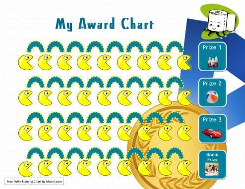 My Awards Potty Training Chart with prizes