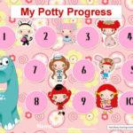 My Potty Progress Chart for Girls