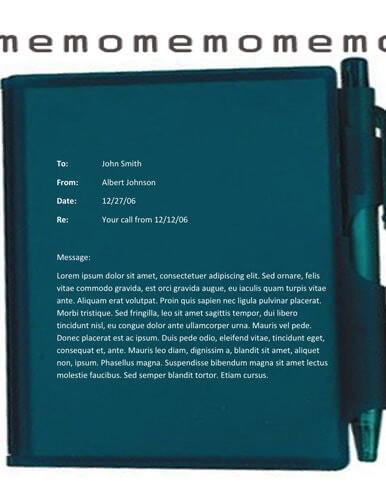 Notebook memo template