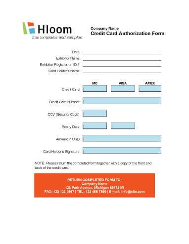 Participant Charge Authorization Form