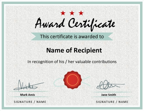 printable award certificate
