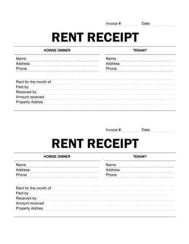 Printable Rent Receipt  How To Write A Receipt For Rent