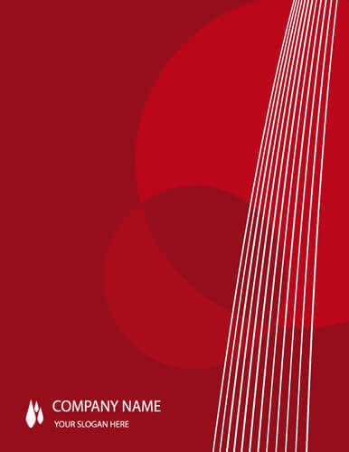 Red background abstract cover page template