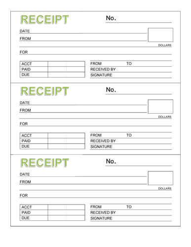 Free Rent Receipt Templates