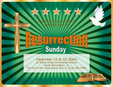 Resurrection Sunday Flyer Template