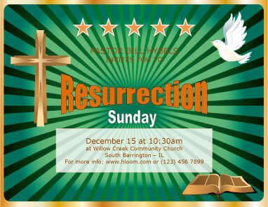 Resurrection Sunday Flyer Template