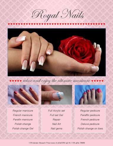 Plantilla de folleto Royal Nails Studio