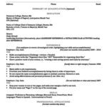 Sample Resume Outline Graduate Student