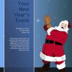 Santa Claus Ho Ho Ho Christmas flyer