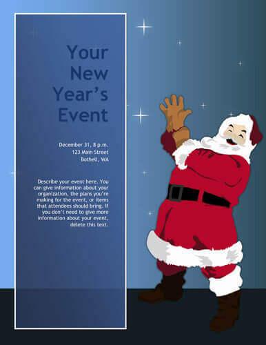 Volantino di Natale Babbo Natale oh oh oh!