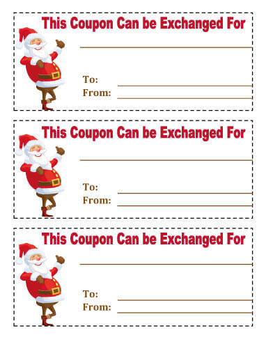 Christmas coupon templates for word