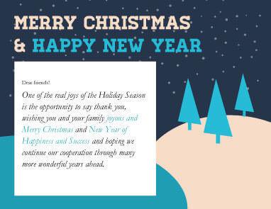 Season Thank You Card Christmas Flyer Template