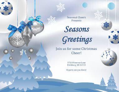 Biglietto di Natale Buone feste