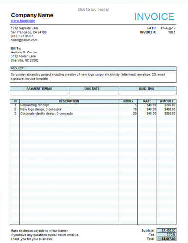 Invoice Sample For Services Invoice Sample For Services - Sample invoices templates