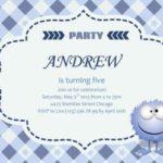 Simple Blue Boy Kids Party Invitation