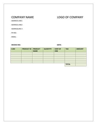 Sales Invoice Template Free Pasoevolistco - Free sales invoice