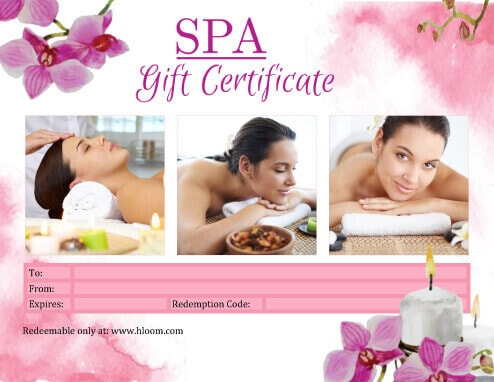 Spa Gift Certificate