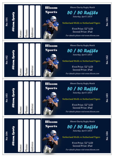 15 free raffle ticket templates in microsoft word mail merge sport charity match ticket template maxwellsz