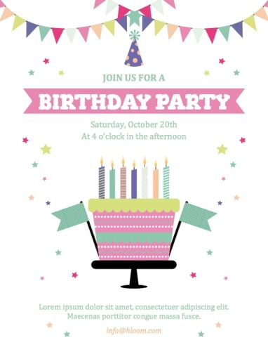 Stars, Cakes, and Banners Invitation