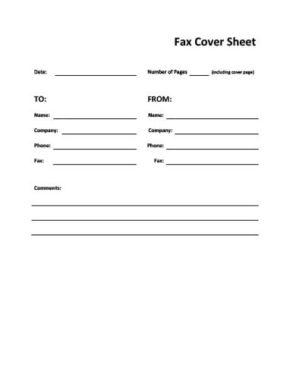 Straightforward Blank Fax