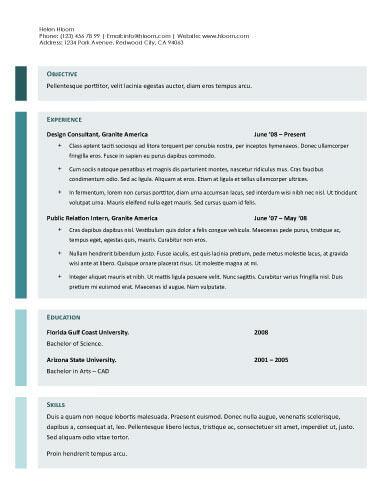 Modello di curriculum Gdoc semplificato