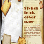 Stylish book cover page