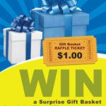 Modello di volantino per lotteria con premio a sorpresa