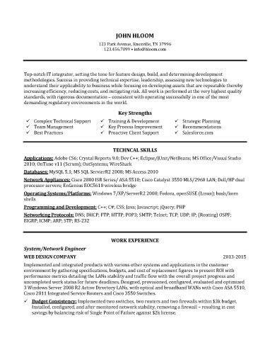 Technical Support Representative Resume Sample