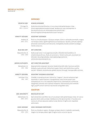 Upfront Gdoc Resume Template