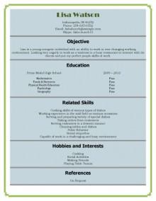 Waiter job duties resume