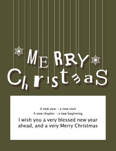 Wishing Merry Christmas