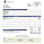Word Invoice Template example